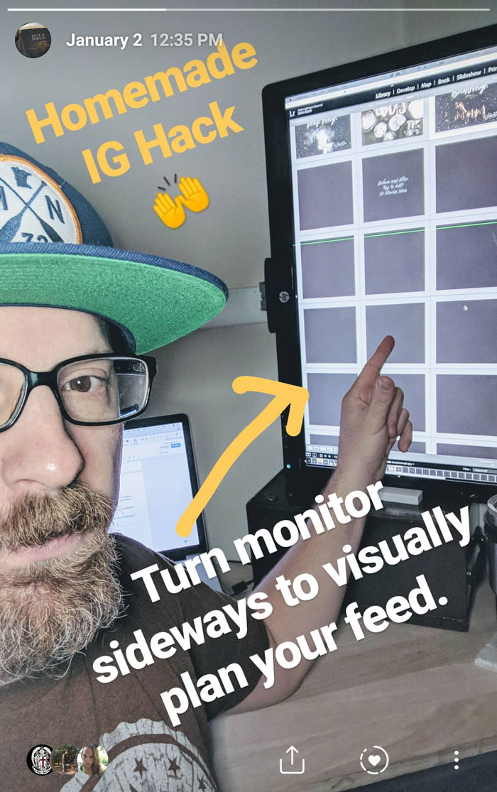 Behind the Scenes Photo Instagram Visually Planning Feed