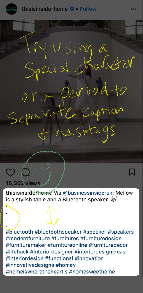 Another Good Hashtags Formatting Example