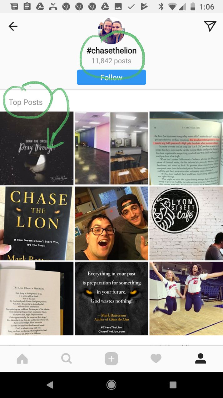 My Smaller Hashtag Example Ranking on Instagram
